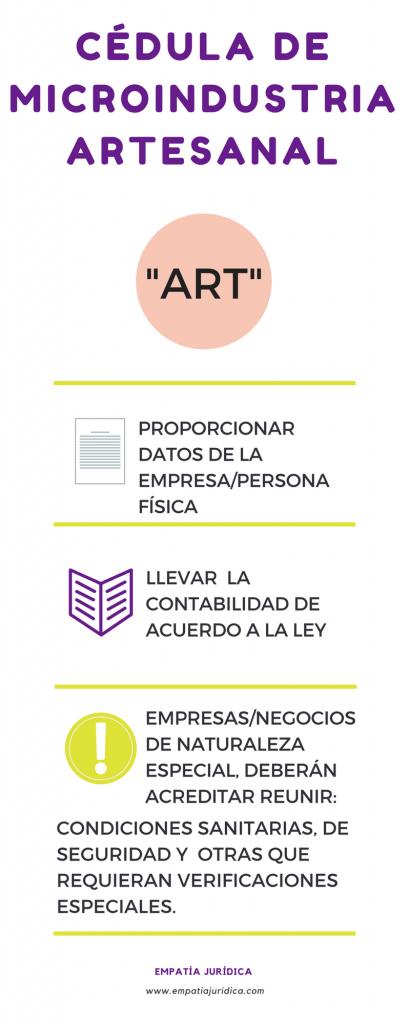 Cédula para Artesanas en México, tus productos con siglas, símbolos ART para artesanías